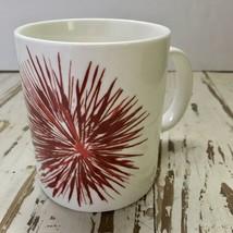 Starbucks 12oz. Coffee Mug Cup 2014 Christmas Red Starburst Flower - $6.92