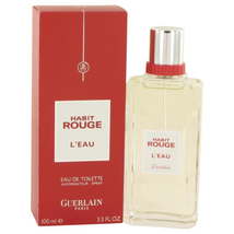 Habit Rouge L'eau by Guerlain Eau De Toilette Spray 3.3 oz - $36.51
