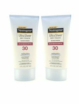 NEUTROGENA ULTRA SHEER DRY-TOUCH LOTION SUNSCREEN SPF 30 5 OZ. LOT 2 NEW... - $13.46