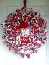 Xmas wreaths,Santa wreaths,Christmas wreaths,front door wreaths,red and ... - $65.00