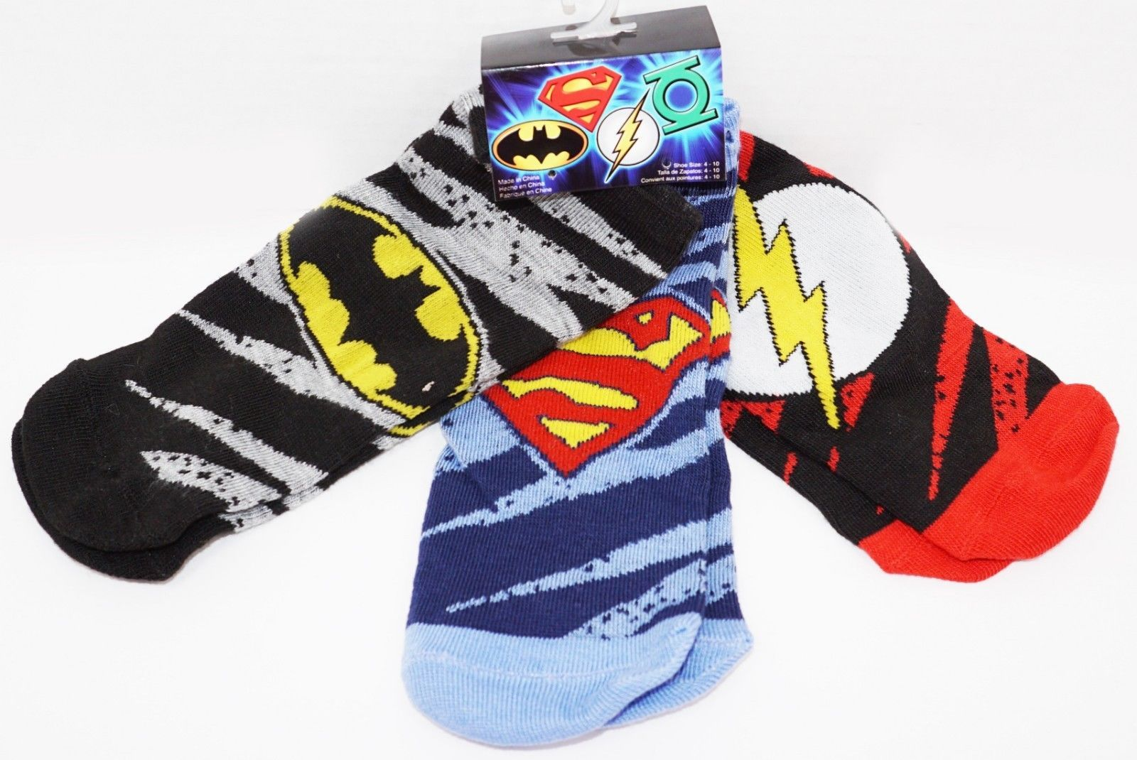 Primary image for DC COMICS 3 PACK 1 SET - LOW CUT SOCKS ADULT SHOE SZ 4-10 HYP 2017 STYLE #1
