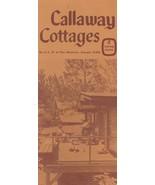 Vintage Travel Brochure Callaway Cottages Pine Mountain Georgia 1970's - $8.90