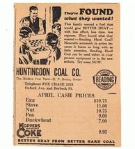 1932 LAWNDALE PRESS PHILADELPHIA NEWSPAPER HUNTINGTON COAL CO.AD-L@@K! - $6.92