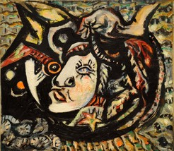 """Jackson Pollock """"Mask"""" HD print on canvas large wall picture 36x24"""" - $29.69"""