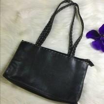THE SAK BLACK HANDBAG W/ BROWN STITCHINGAuthentic black leather - $35.15