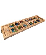 Vicente Oak Wood Folding Mancala Board Game, 18 Inch Set - $46.97