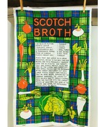 Vintage Never Used Linen Kitchen Towel Scotch Broth 30 x 20 Amazing Colors  - $16.34