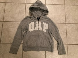 Kids Girls GAP Gray Zipper Front Hooded Sweatshirt Jacket Size Youth XL ... - $16.00