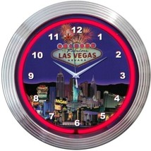 "Las Vegas Strip Neon Clock 15""x15"" - $59.00"