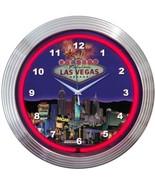 "Las Vegas Strip Neon Clock 15""x15"" - $59.00"