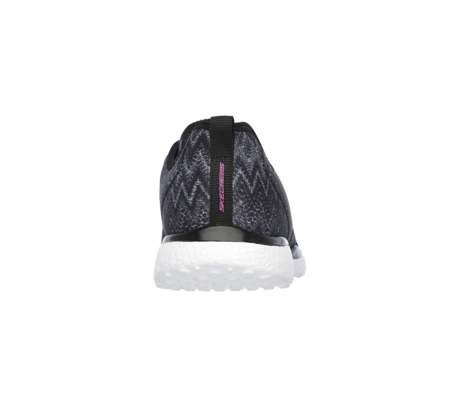 Women's Skechers Fluctuate Walking Shoe Black Size 8 #NG4EL-157