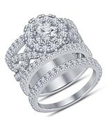 1.95Ct Diamond Engagement Wedding Ring White Gold 925 Silver Round Brida... - $105.99