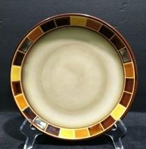 "One Gibson Casa Estebana Elite ceramic brown mosaic tile luncheon plates 8"" d - $14.93"