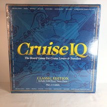 Cruise IQ Board Game Pewter Pcs Cruises Cruise Lovers ship Travel Trivia... - $36.62