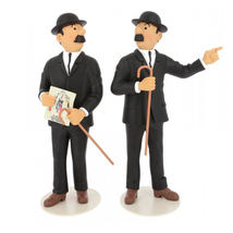 Les Dupondt resin figurine statue from collection Le Musee Imaginaire Tintin image 1