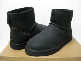 UGG MINI DECO MEN ANKLE BOOTS LEATHER BLACK US 13 /UK 12 /EU 47 - €119,89 EUR