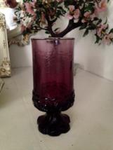 Vintage Tiffin Tall Franciscan Madeira Dark Purple Silk Footed Glassware  - $25.00