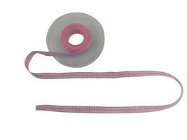 Gingham Check Light Pink White Ribbon 10mm 3 Lengths - $4.81+