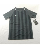NIKE US SS STRIPED DIVISION II SOCCER JERSEY Med Anthracite/Black/White ... - $31.50