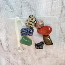 Tumbled Rock Crystals, Set of Eight Polished Stones, gemstone crafts, home decor image 3