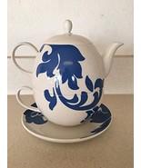 Tea for one Martha Stewart Collection Lisbon Pattern Blue - $35.63