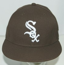 New Era CA40289 Genuine Merchandise Chicago White Sox Fitted Cap Brown Size 7 image 1