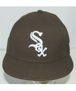 New Era CA40289 Genuine Merchandise Chicago White Sox Fitted Cap Brown S... - $21.99