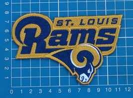 """Los Angeles Rams superbowl NFL football logo 5"""" patch jersey embroidered - $15.00"""