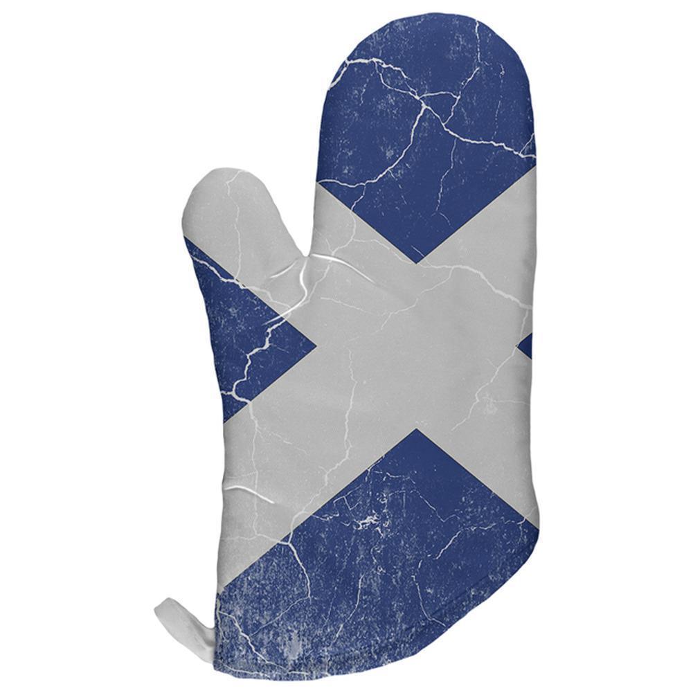 Scottish Flag Distressed Grunge Scotland All Over Oven Mitt