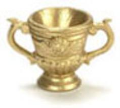 DOLLHOUSE MINIATURE GOLD ROMA URN #N7150 - $6.99