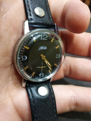Watch Classic Black Dial Vintage ZIM Pobeda Square Men Retro Style Russian GIFT image 6