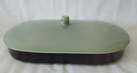 Red Wing Village Green Oval Covered Baker Serving Bowl - $75.13