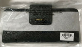 NWT Fossil Madison Slim Clutch Black Leather Wallet SWL1574001 - 723764500752 image 3