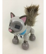 Zoomer Meowzies Interactive Robot Gray Brown Cat Toy Spin Master 2016 - $16.88