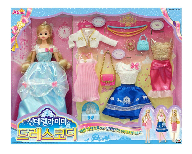 Mimi World Cinderella Mimi Dress Fashion Coding Costume Dress Up Toy Playset