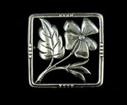 "Vintage Deco Sterling Danecraft Flower Daisy Pin Brooch 1.5"" - $53.99"