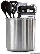 "Estilo EST0286 Stainless steel Utensil Holder Jumbo - 7 X 7"" ,, - $13.95"