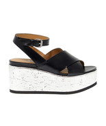 Heeled sandal JANET SPORT 41830 in black leather - Women's Shoes - $137.14