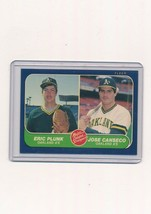 1986 Fleer  #649  Eric Plunk, Jose Canseco - $1.10