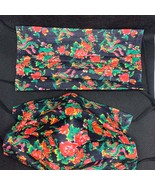 10 pieces Black and red flowers disposable face mask - $11.00