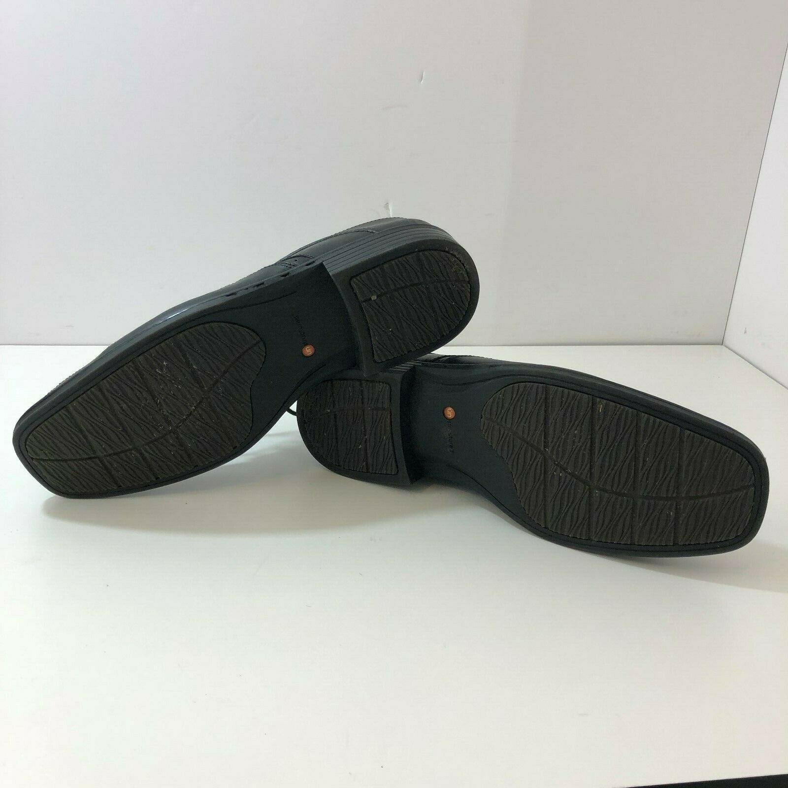 CLARKS Un Structured Mens Black Derby Oxford Dress Shoe Size 13M 82504