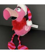 Gemmy Pink Flamingo Animated Singing Dancing Bird Santa Baby Christmas W... - $39.59