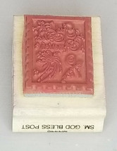 God Bless America Postage Rubber Mounted on Wood Stamp image 2