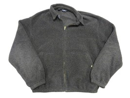 POLO by Ralph Lauren Charcoal Grey Full Zip Fleece Jacket Adult Men's Si... - $29.65