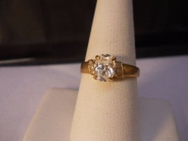 18 Kt GP white Oval Cubic Zirconia Stone Ring Size 8.5  #FJW524 - $19.99