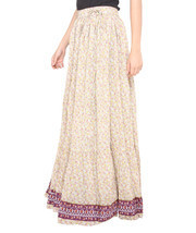 Pink Flower Jaipuri Skirt  - $25.75