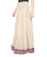 Pink Flower Jaipuri Skirt  - ₨1,858.94 INR
