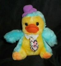 """5 """" Vintage 1987 Commonwealth Giallo e Blu Bambino Duck Peluche Peluche - $11.30"""