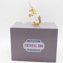 Cristal Zoo Doré Licorne Figurine Avec / Boîte - $24.74