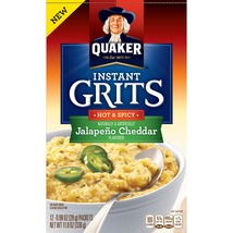 Quaker Instant Grits, Jalapeno Cheddar, 12 Packets - $5.00
